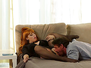 Busty ginger Penny Pax yearns for a pulsating boner