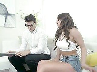 Teen in exclusive scenes of really harsh sex