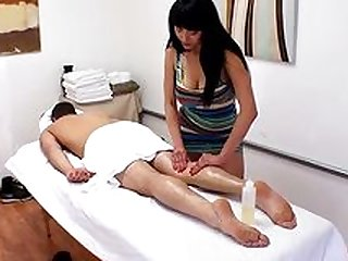Passionate massage ends with a good fuck
