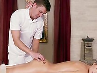 Massage ends with serious fucking for Lana Rhoades