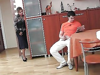 Russian mature Shenythia caught boy masturbating