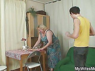 Naughty birthday fun with her mom