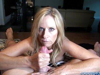 Jodi West in Stepmom's Handjob